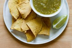 Homemade Corn Tortilla Chips (oven-baked)