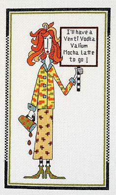 Latte to Go (Dolly Mamas Kit) - Cross Stitch Kit