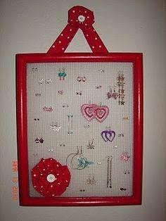 gift, girl, crafti, earring holders, organ, craft idea, glue gun, diy, earrings