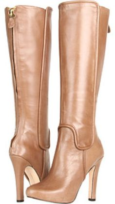 Diane Von Furstenberg Beige Crystal Boots, ht