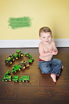 could create the number out of one of their favorite things at that age. Gotta do this with trains!