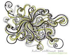 ; lime fengl, zentangl art, apart design, a little lime, drawingart idea, doodl, zentangl draw, helen william, limes