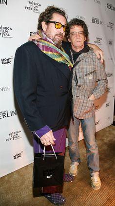 Julian Schabel and Lou Reed. #LouReed