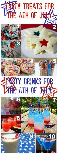 10 Yummy Fourth of July Food & Drinks