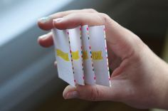 Striped Edge Painting (on business cards) | Oh Happy Day