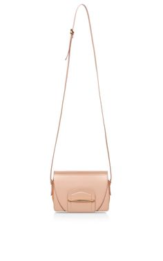 Folded Case Leather and Suede Shoulder Bag by Nina Ricci