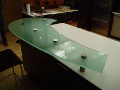 Raised Glass Countertop
