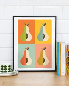 Kitchen print scandinavian print mid century modern art by handz