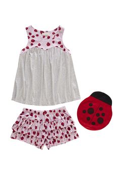 Ladybird Knit Pj Set from Peter Alexander ~ Love the bag they come in!xx
