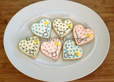 Polka dot baby shower cookies