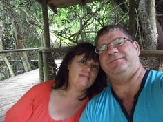 My love and I at Birds of Eden, Plettenberg Bay