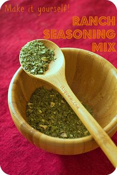Make it yourself and save money (PLUS no nasty preservatives or chemicals) Ranch Seasoning Mix from It's Yummi.com
