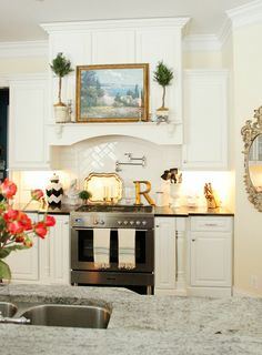 When It's Time to Change, You've Got to Rearrange house tours, backsplash, oven, dream hous, cabinet, kitchen remodel, hood, decor idea, white kitchens