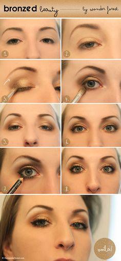Bronzed Beauty! Golden Smokey Summer Eyeshadow Tutorial!