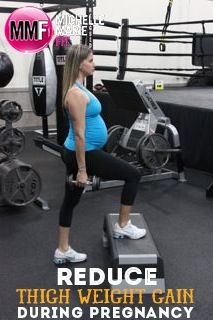 Reduce Thigh Weight Gain With This #Pregnancy #Workout. 6 PREGNANCY EXERCISES for the thighs that are SAFE to do.   Have to try this!