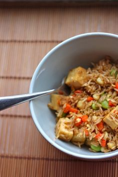 Vegetable Fried Rice with Tofu | TheCornerKitchenBlog.com