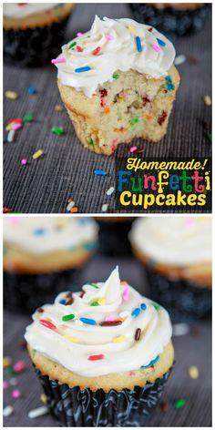 Homemade Funfetti Cupcakes with Vanilla Buttercream Recipe | Baking Beauty #funfetti #cakebatter #cupcake #recipe #yum