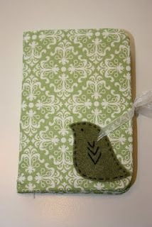 Cute fabric notepad books. Great idea for gifts.