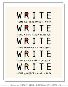 Write Write Write Art Print To Motivate Your by thedreamygiraffe