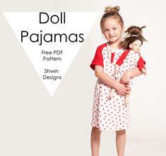 Doll Pajamas || Free PDF Pattern