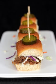 Balsamic Vinegar and Honey Pulled Pork Sliders