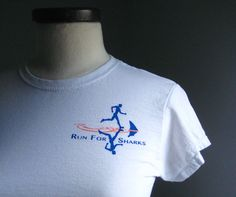Run For Sharks T Shirt. $20.00, via Etsy. The race to save sharks is on! Support Team Project AWARE running the 2010 ING NYC MARATHON on November 4th! #fundraising