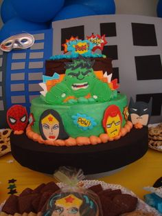 "Photo 7 of 15: Super Hero Squad/Marvel Characters / Birthday ""Andrés Super Hero Squad"" 