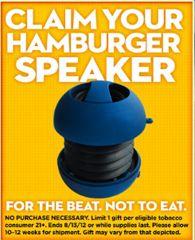 FREE Hamburger Speaker from Skoal on http://hunt4freebies.com