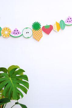 Printable fruit garland - cute!