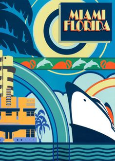 Miami, Florida from AllPosters.com  Poster by Peter Kelly.