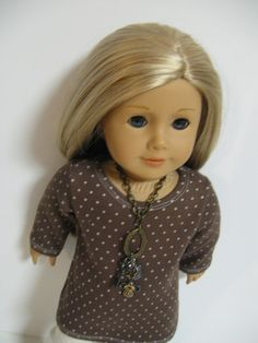 American Girl Doll Clothes   Brown Dot by 123MULBERRYSTREET, $25.00