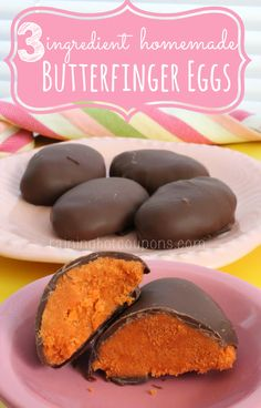 Homemade Butterfinger Eggs (Only 3-Ingredients)