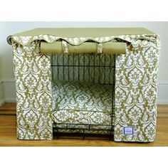 Fancy dog crate cover