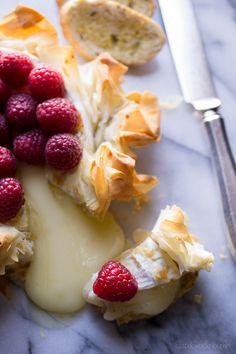 Brie Phyllo Torte with Fresh Raspberries - Taste Love & Nourish