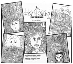 "Here's a popular lesson about line, repetition and pattern that is over 16 years old, but still going strong! ""A Hair-Raising Experience,"" from our March 1997 issue. art lesson, hairrais experi, march 1997"