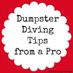 Dumpster Diving Tips from a Pro - Eclectically Vintage