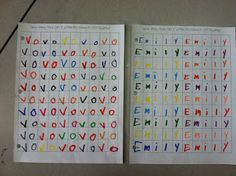 How many times can you write your name in 100 boxes... 100th day of school