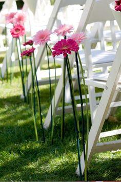 fake flowers on long stalk for aisle?