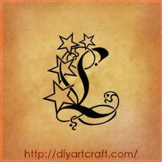 Lettere tattoo: 9 singole A | F | G | J | K | L | S | T | V L-tattoo-diyartcraft – tattoo diyartcraft