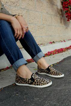 DaintyJea: Leopard Slip-Ons