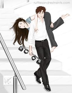 Taking the stairs 50 shades of grey, fan art.