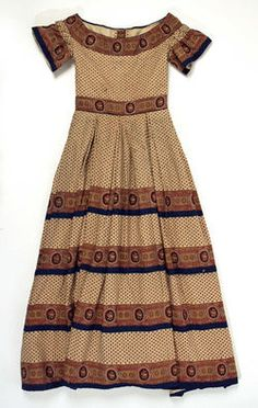 1860 girl's dress