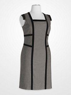 Steve Harvey Gray and Black Colorblock Zipper Dress