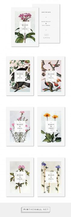 Love, love, love... Botanical branding, from Marie et Paul #businessbranding