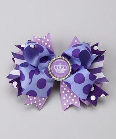 multi layer purple bow