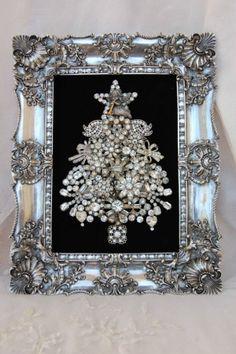 christma tree, antique christmas, gold christmas, jewelri tree, christmas trees