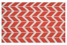Haven Flat-Weave Rug, Poppy on OneKingsLane.com
