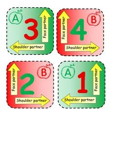 Apple themed cooperative learning mats! So cute!