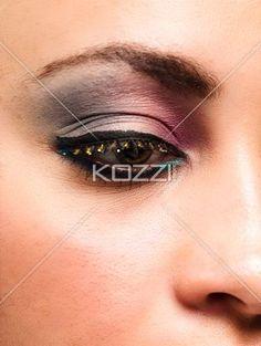 professional eye make up. - Close-up of professional eye make up, Model: Taylor Chmiel MUA: Irene Prowell