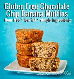 Gluten Free Chocolate Chip Banana Muffin Recipe. One of the most popular recipes on Love From The Oven in 2013.
